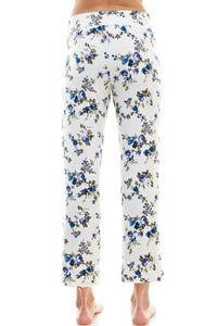 SLEEPY CROP PANT | ROYAL FLORAL