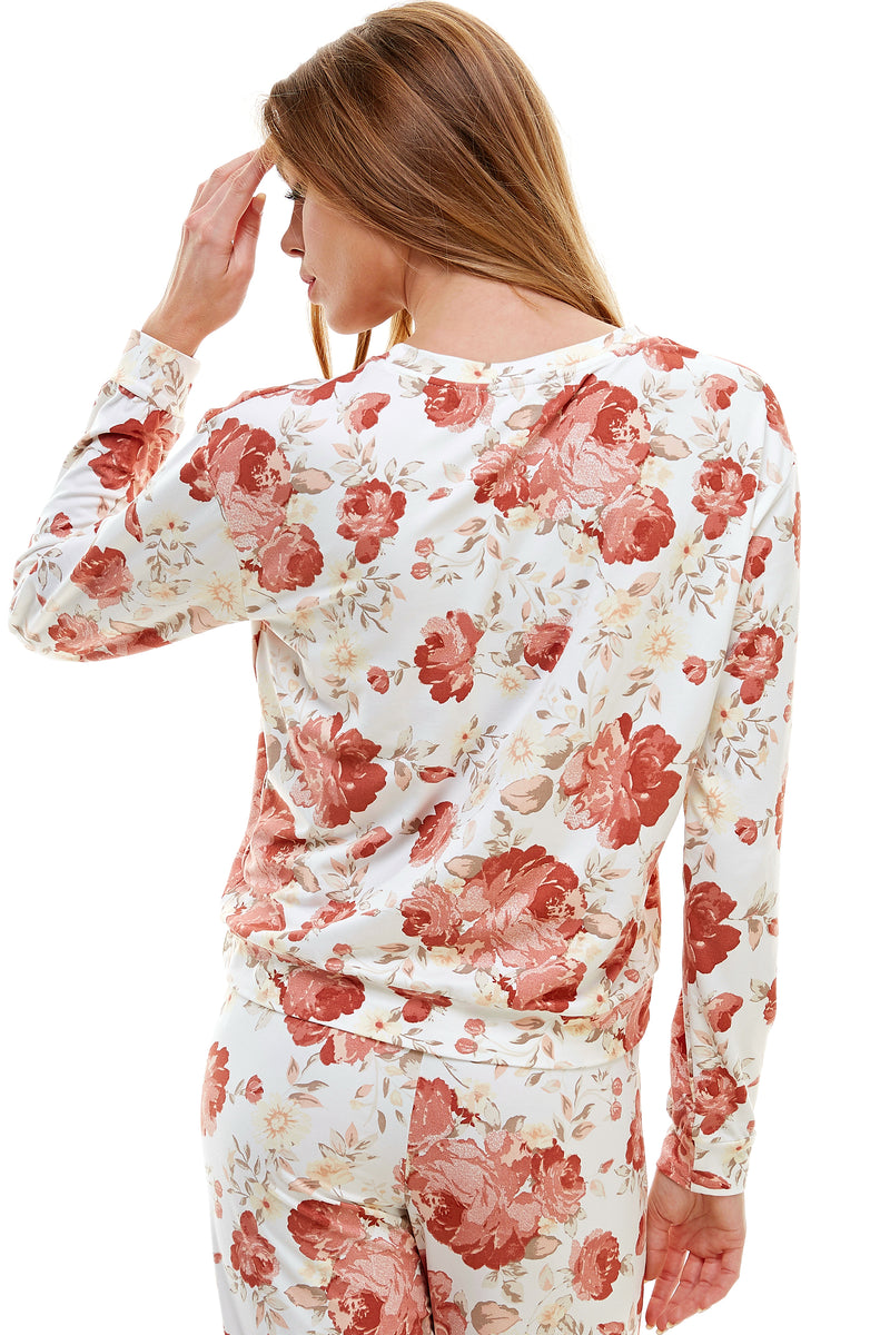SLEEPY CREWNECK | PEACH BELLINI FLORAL