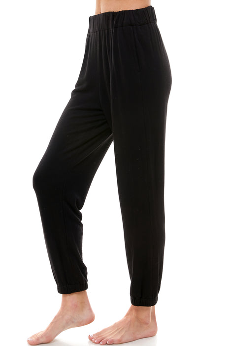 LOUNGE PANT | FUZZY LUXE BLACK
