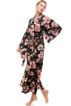 Load image into Gallery viewer, KIMONO | BLACK PEONIES
