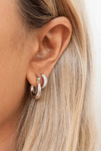 Load image into Gallery viewer, Luv AJ | Mini Martina Hoops Silver