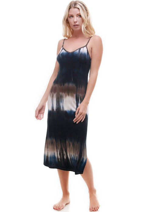 MIDI SLIP DRESS | BOHO TIE-DYE