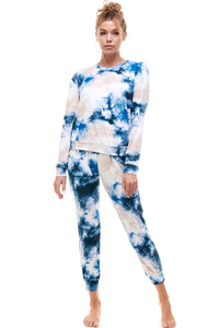 SLEEPY JOGGER | DENIM TIE DYE