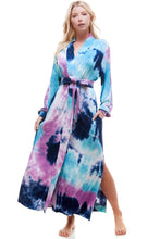 Load image into Gallery viewer, BANDED LONG | BLUEBERRY TIE-DYE