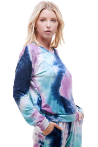 SLEEPY CREWNECK | BLUEBERRY TIE-DYE