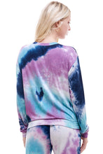 Load image into Gallery viewer, SLEEPY CREWNECK | BLUEBERRY TIE-DYE