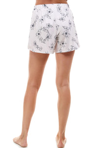 SLEEPY SHORT | BLUSH SKETCH FLORAL