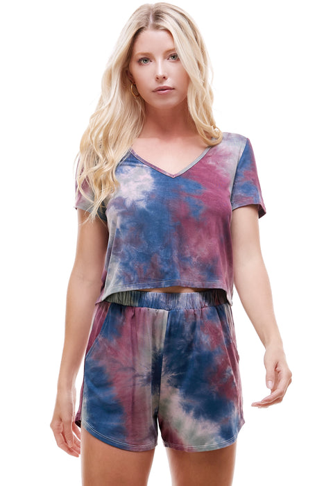 SLEEPY CROPPED T-SHIRT | SUMEMR SKY TIE-DYE
