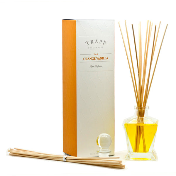 No. 4 Orange Vanilla Reed Diffuser - Scents Lifestyle Home Fragrances