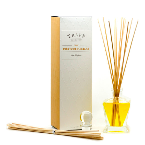 No. 8 Fresh Cut Tuberose Reed Diffuser - Scents Lifestyle Home Fragrances