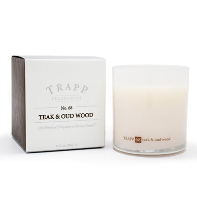 No. 68 Teak & Oud Wood Poured Candle - Scents Lifestyle Home Fragrances