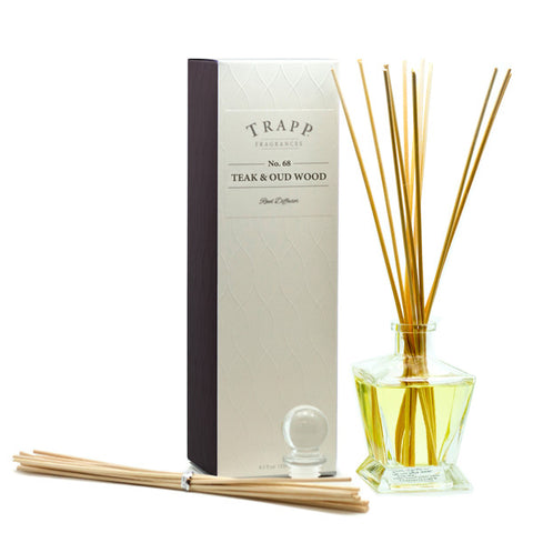 No. 68 Teak & Oud Wood Reed Diffuser - Scents Lifestyle Home Fragrances