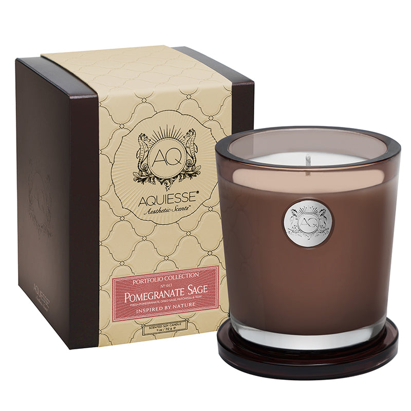 Pomegranate Sage Large Soy Candle - Scents Lifestyle Home Fragrances