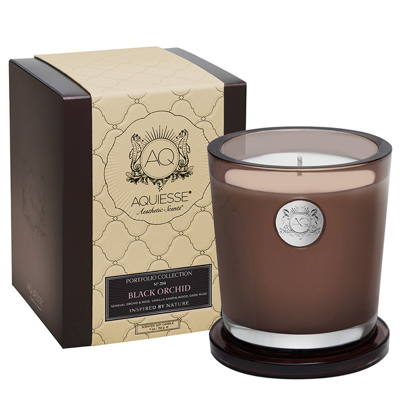 Black Orchid Large Soy Candle - Scents Lifestyle Home Fragrances