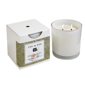 Fig + Fir 2 Wick Candle 12 oz - Scents Lifestyle Home Fragrances