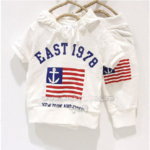 White Sailor Sweat Suit
