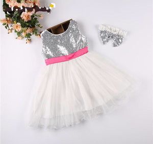 Sleeveless TuTu dress with bow knot