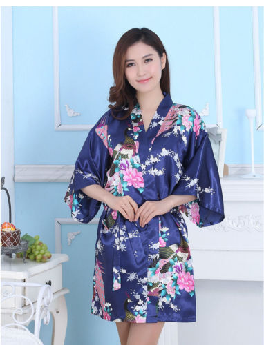 Navy Blue Adult Robe