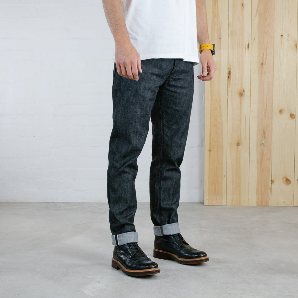Black Summer-weight Stretch Selvedge Short Run - Work@