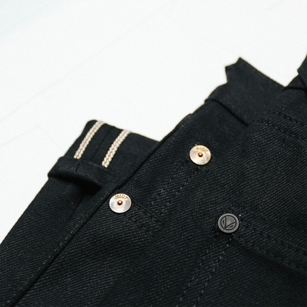 Japanese Double Black Stretch Selvedge Short Run - Work@