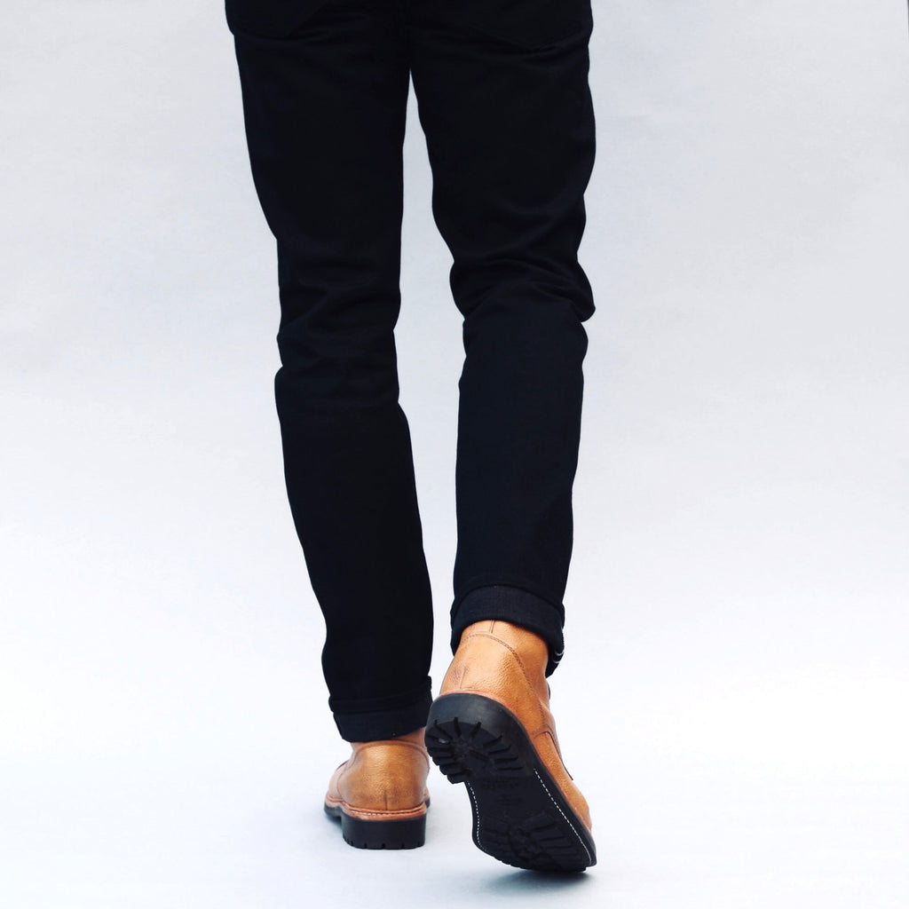 Japanese Black/Charcoal Selvedge Short Run - Hack@