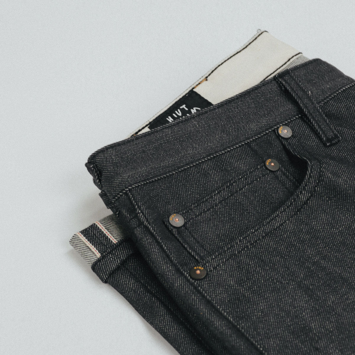 Italian Grey Selvedge Short Run - SlimR