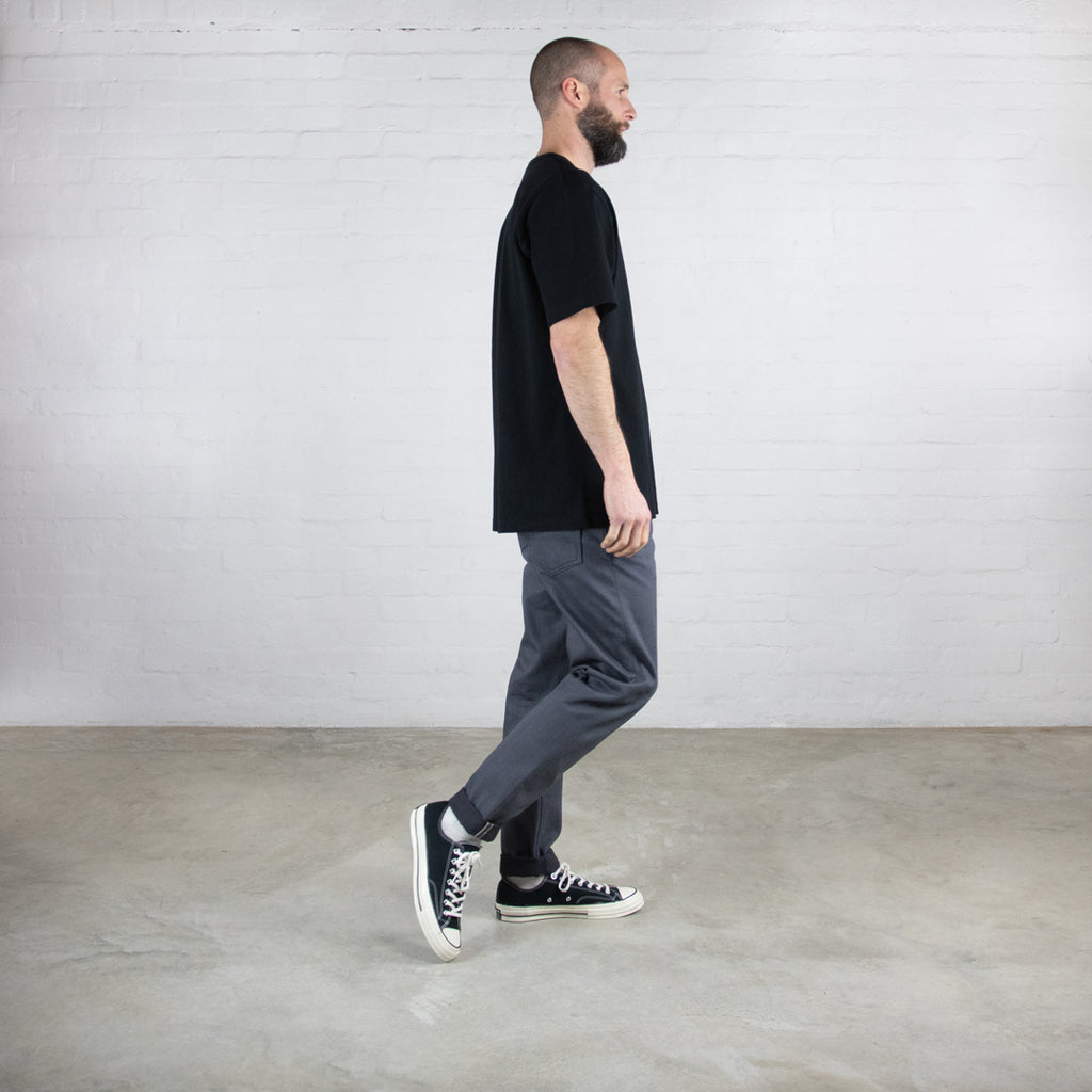 Grey Black Japanese Selvedge - The Hack@ - Slim Fit