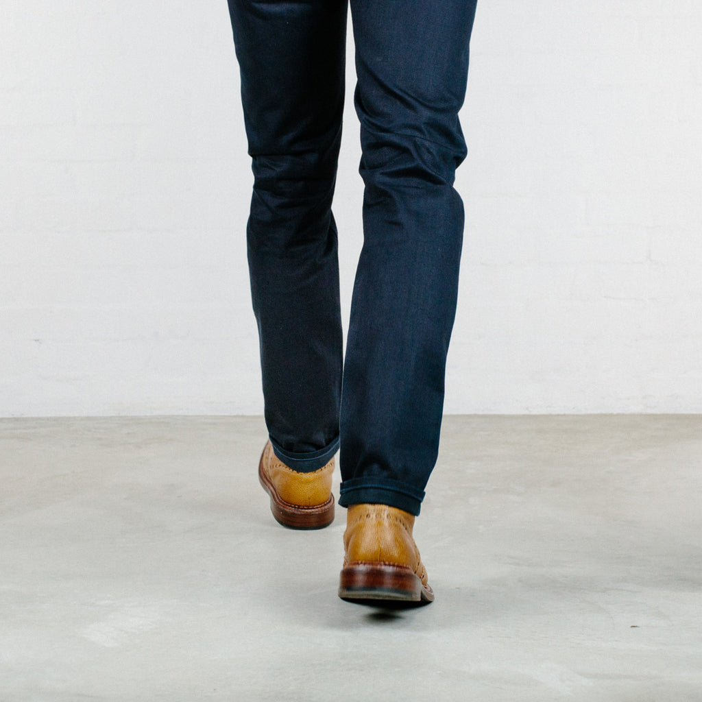 Italian Double Indigo Selvedge Short Run - Work@