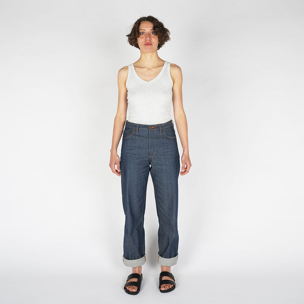 The Peggy Selvedge in Natural Indigo - Relaxed Fit