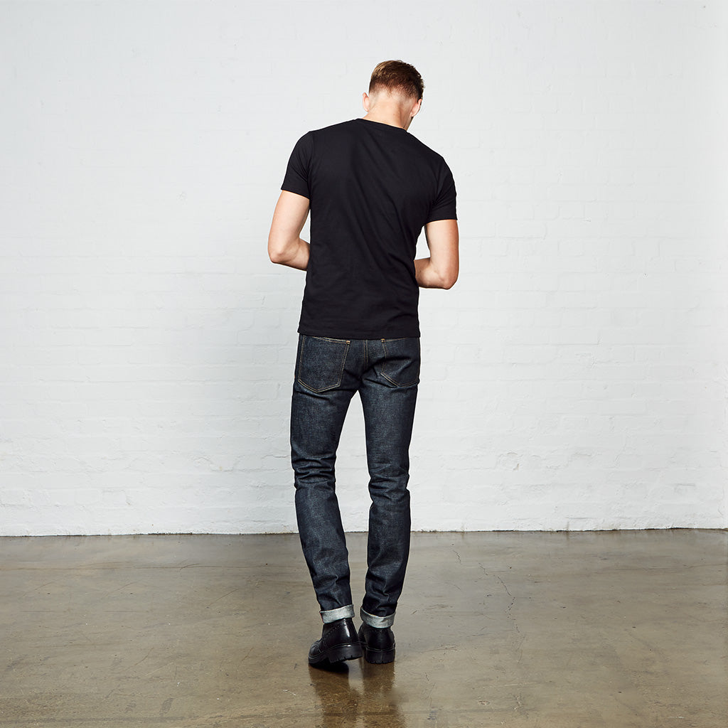 Men's Skinny Fit Japanese Selvedge Denim Jeans | Indigo | Made in Wales | Hiut Denim Co. - Back