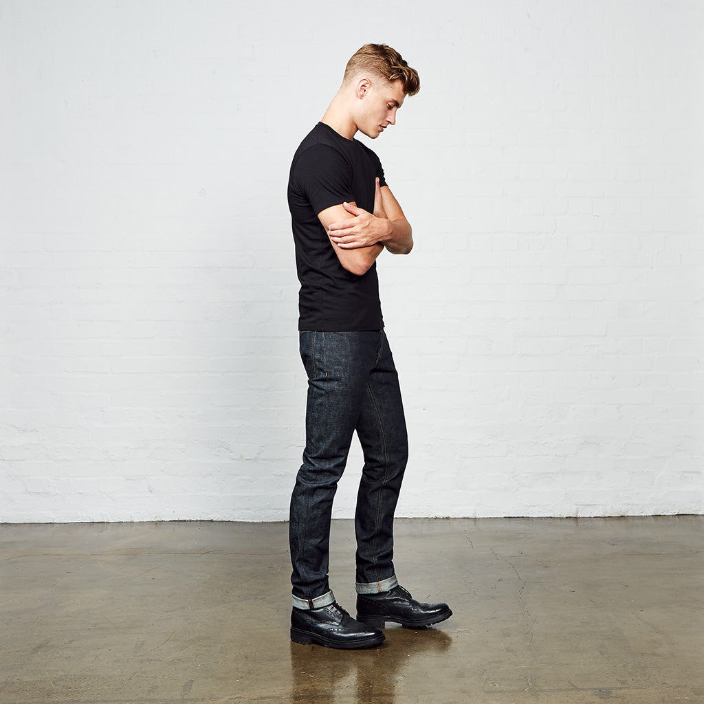 Men's Skinny Fit Japanese Selvedge Denim Jeans | Indigo | Made in Wales | Hiut Denim Co. - Side