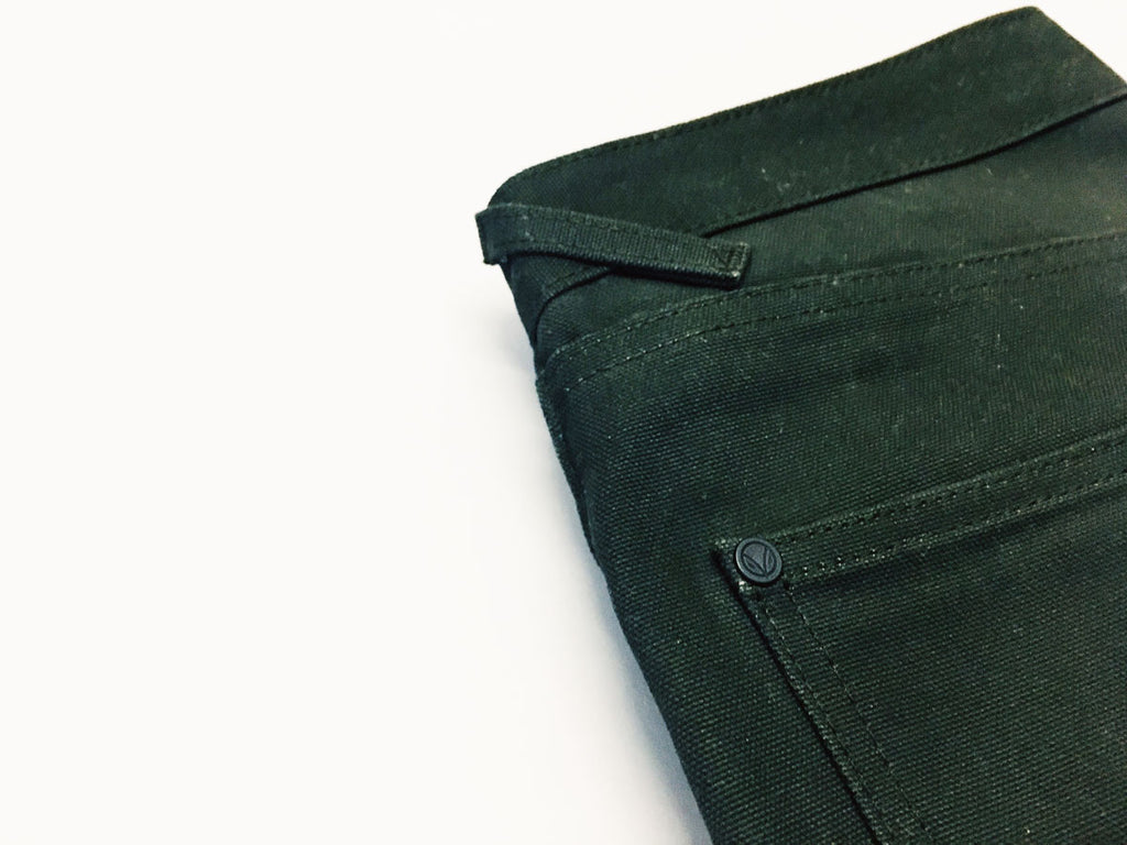 Dark Olive Duck Canvas Short Run - Work@