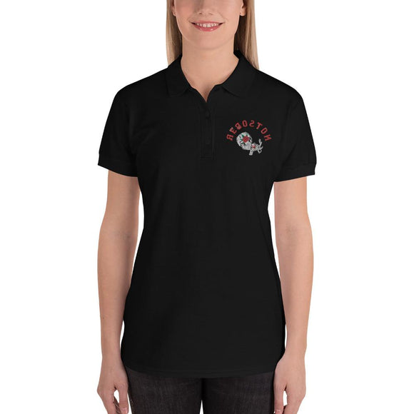 Women's Embroidered Polo Shirt - Mexicali Rose -  Reboston T-Party Shirt Shop