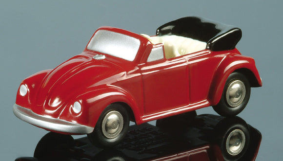 Schuco Piccolo VW Bug Cabrio Dark Red