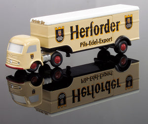 "Schuco Piccolo Mercedes Benz Semi Truck with Trailer""Herforder Beer"