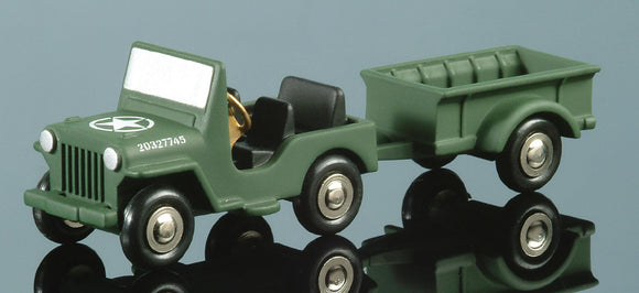 Schuco Piccolo Willy's Jeep w trailer[W5F]