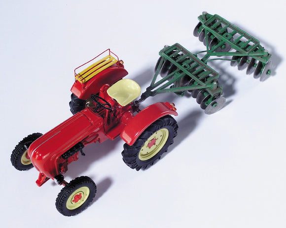 Schuco Edition 1:43 Porsche Diesel Junior K w/Disc Harrow
