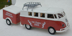 Brekina VW Camper with westfalia trailer VW Classic 2002