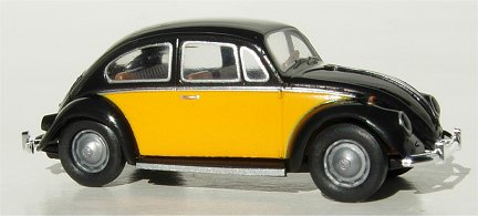 Brekina VW Bug  two tone Black Yellow