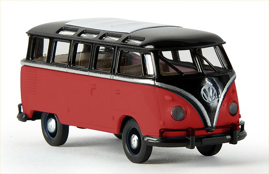 Brekina VW Samba T1b Black/Red