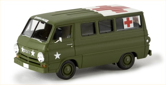 Brekina Dodge A 100 Bus US ARMY Ambulance