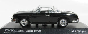 Minichamps VW Karmann Ghia 1600 1966 Black 430-050224 [W1E]