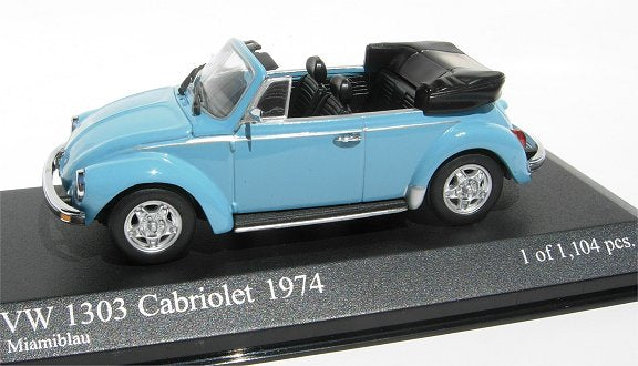 Minichamps VW 1303 Cabrio 1974 blue 430-055140 [W1F]