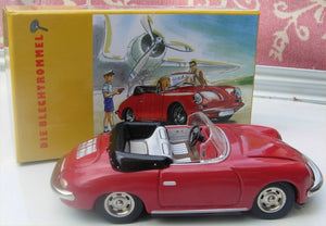 Blechtrommel Porsche 356 Wind Up Tin  Red