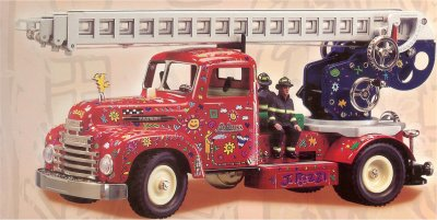 Schuco Classic Tin James  Rizzi Fire Truck