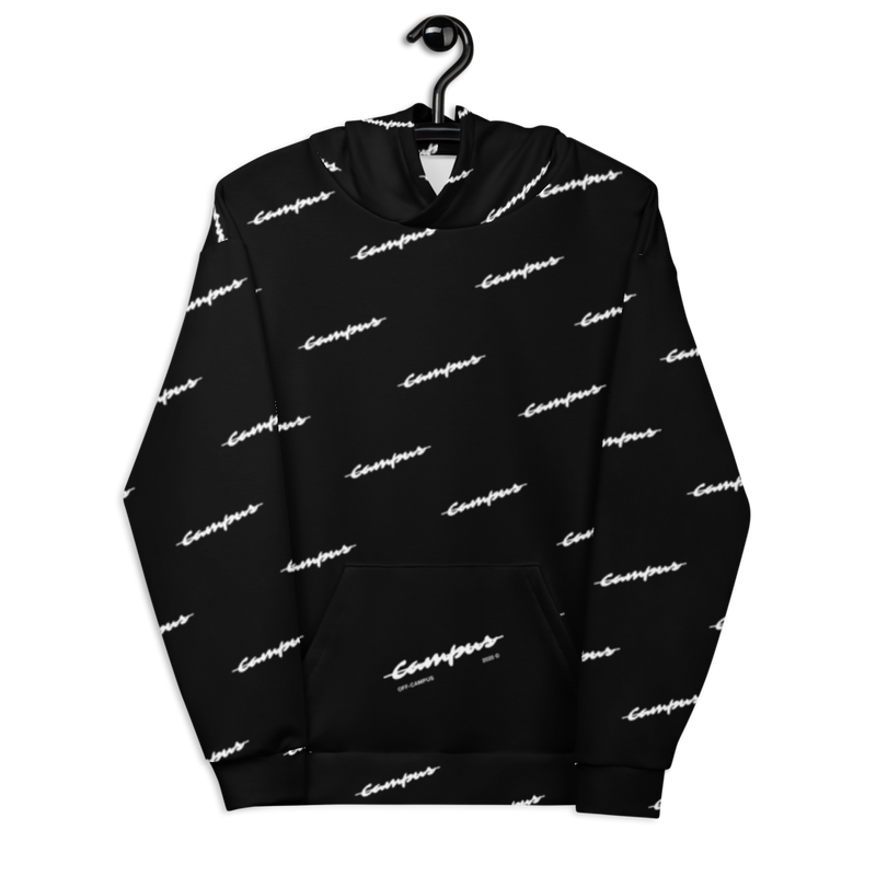 Black Tilted Unisex Hoodie by Off-Campus™