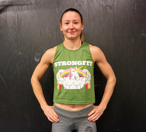 Strongfit unicorn tank top - Green
