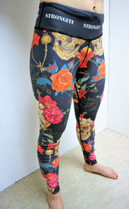 Strongfit tights Skulls and Flowers