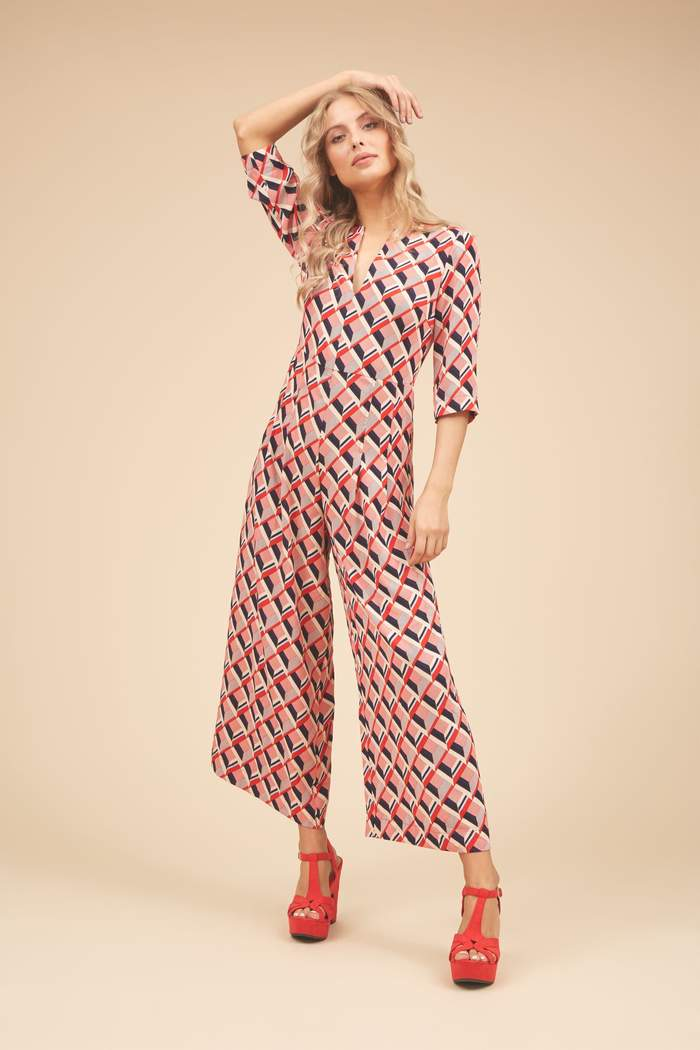 Printed Wide Leg Betty Jumpsuit - Jumpsuits - PICNIC