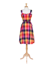Load image into Gallery viewer, Pippa Sunset Plaid Sundress - Dresses - PICNIC